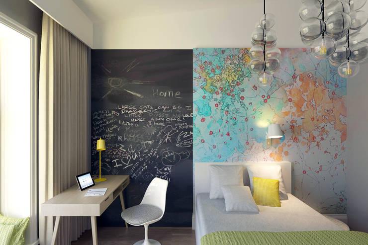 Projekty,  Pokój dziecięcy zaprojektowane przez lab21studio
