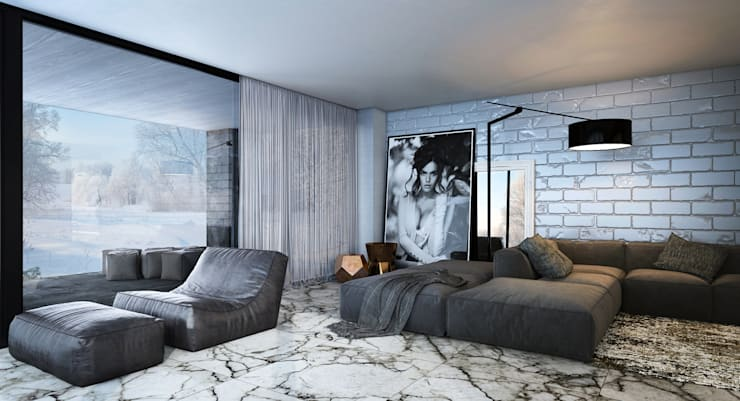 Hammer House: Гостиная в . Автор –  Aleksandr Zhydkov Architect