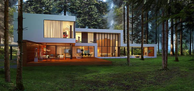 minimalistic Houses by ALEXANDER ZHIDKOV ARCHITECT