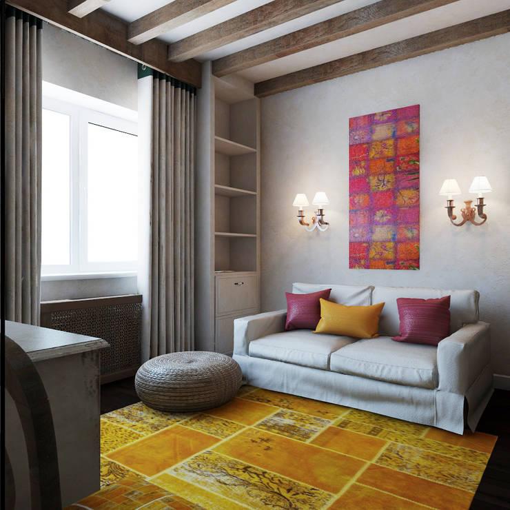 Гостевая в испанском домике: Спальни в . Автор – Частный дизайнер и декоратор Девятайкина Софья,