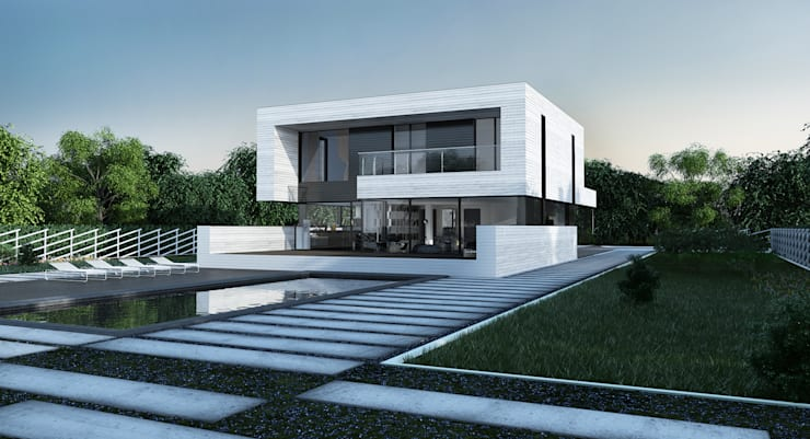 ​single-family dwelling house: Дома в . Автор – ALEXANDER ZHIDKOV ARCHITECT
