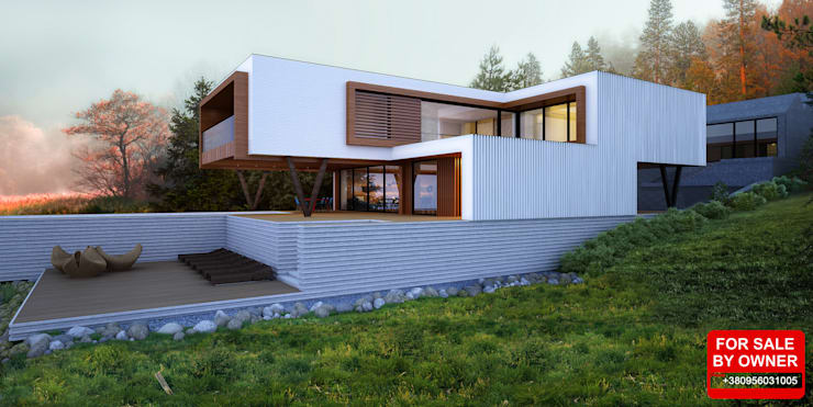 Дом в Днепропетровске: Дома в . Автор – ALEXANDER ZHIDKOV ARCHITECT