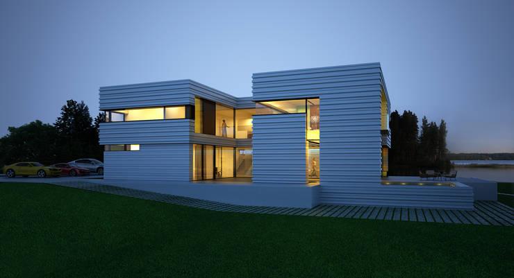 ДОМ В ПОДМОСКОВЬЕ: Дома в . Автор – ALEXANDER ZHIDKOV ARCHITECT, Минимализм