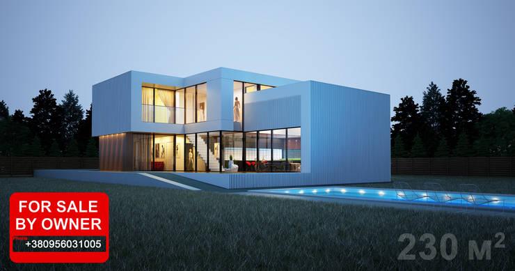 ДОМ В ПОДМОСКОВЬЕ: Дома в . Автор – ALEXANDER ZHIDKOV ARCHITECT