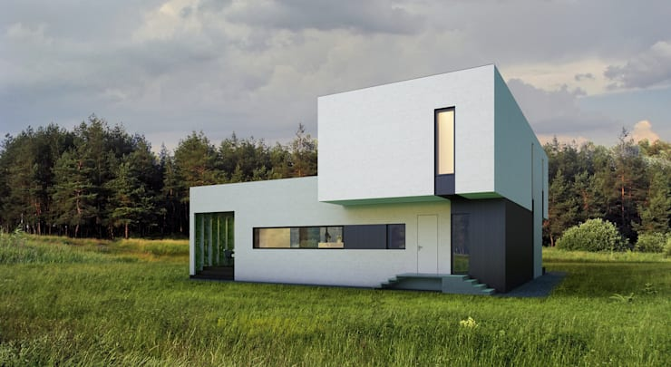 ДОМ В ПОДМОСКОВЬЕ: Дома в . Автор – ALEXANDER ZHIDKOV ARCHITECT,