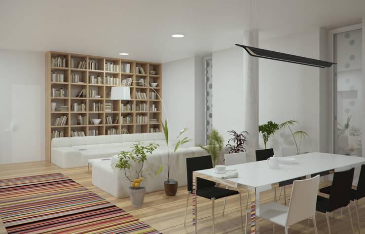 Дом в Гурзуфе: Гостиная в . Автор – ALEXANDER ZHIDKOV ARCHITECT