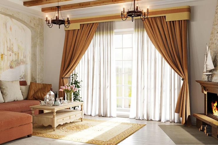 Гостиная в колониальном стиле: Гостиная в . Автор – Студия дизайна Interior Design IDEAS