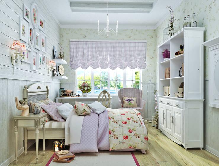 Прованс для детской: три варианта: Детские комнаты в . Автор – Студия дизайна Interior Design IDEAS, Классический