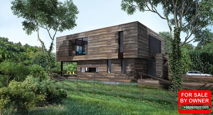 дом 270м2: Дома в . Автор – ALEXANDER ZHIDKOV ARCHITECT