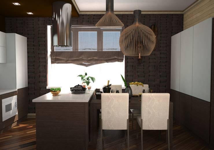 Гостиная в стиле ариканского сафари: Кухни в . Автор – Гурьянова Наталья, Тропический