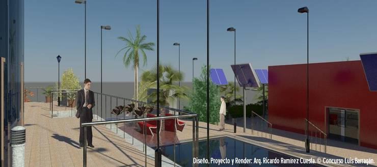 Acceso a la estación del Metro Constituyentes: Casas de estilo  por Ramírez Cuesta Arquitectos