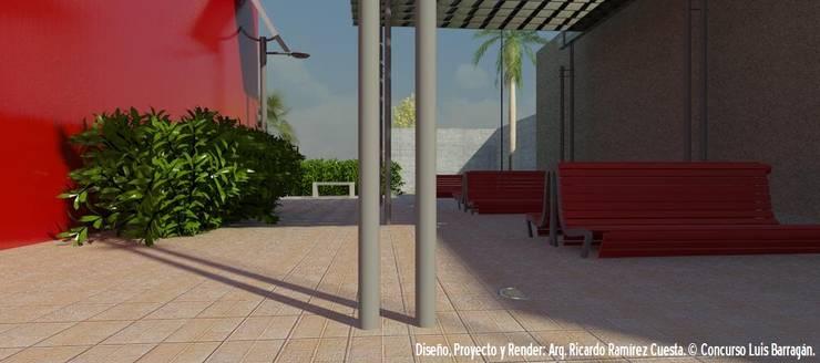 Área de Lectura al exterior: Casas de estilo  por Ramírez Cuesta Arquitectos