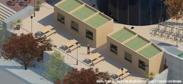 Área de Fast Foods Casas modernas de Ramírez Cuesta Arquitectos Moderno