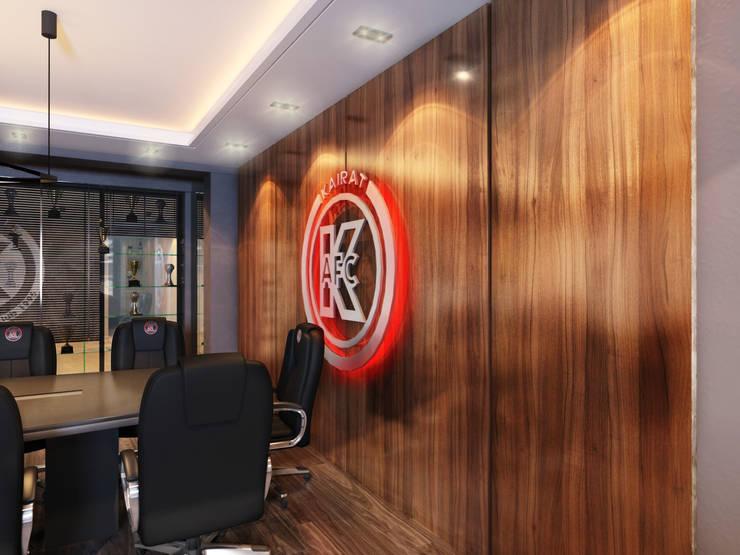 Дизайн кабинета <q>МФК Кайрат</q>: Стены и пол в . Автор – AIR Design