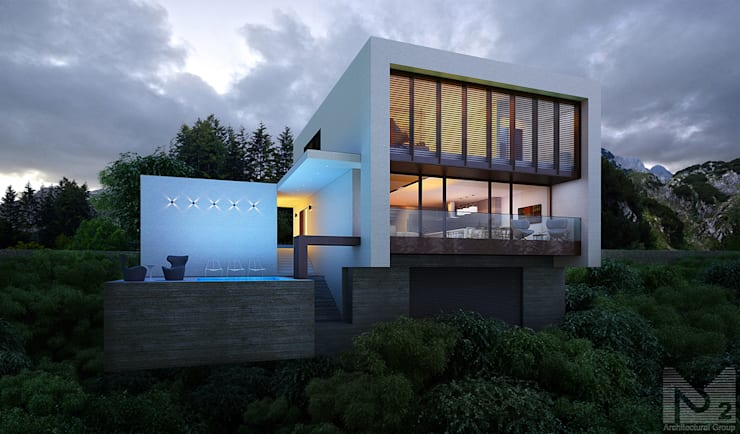 Casas de estilo minimalista de  Aleksandr Zhydkov Architect