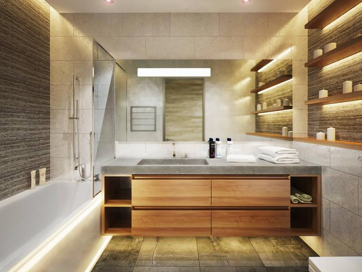 Ванные комнаты в . Автор – Polovets design studio
