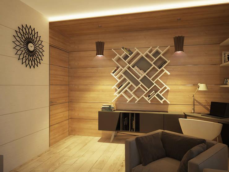 Гостиная в . Автор – Polovets design studio