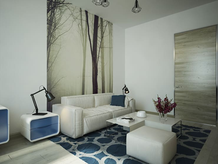Спальни в . Автор – Polovets design studio