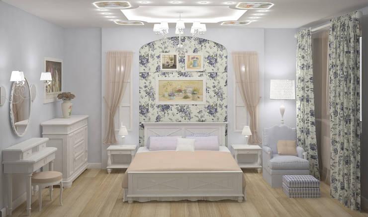Спальни: Спальни в . Автор – ООО ПрофЭксклюзив Студия дизайна интерьеров