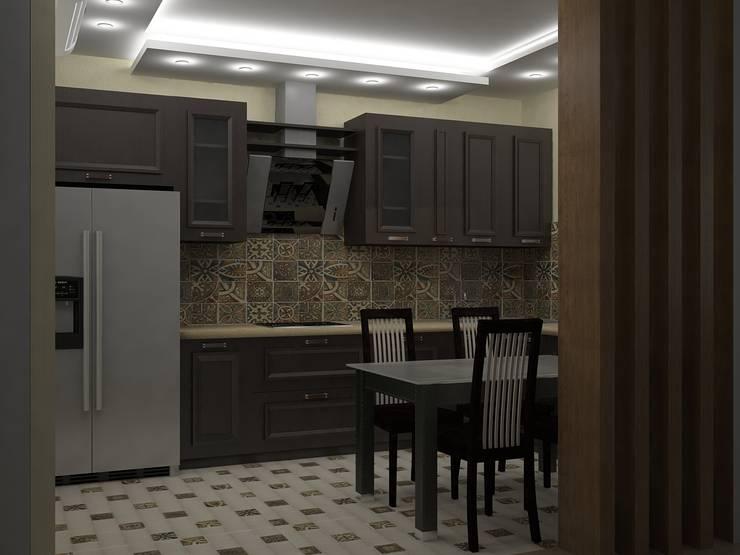 Cocinas de estilo  por ООО ПрофЭксклюзив Студия дизайна интерьеров, Ecléctico