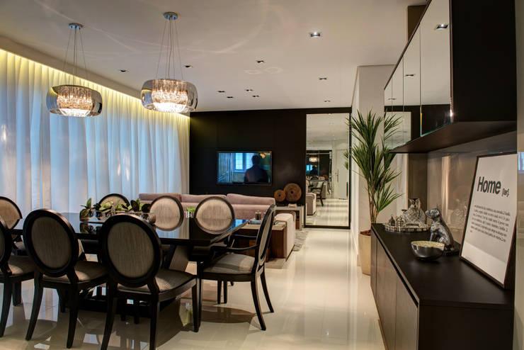 Salas Integradas: Salas de jantar  por Renato Lincoln - Studio de Arquitetura