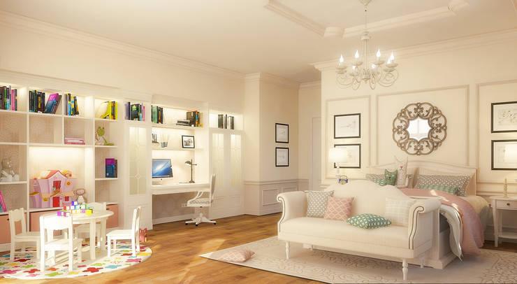 Интерьер особняка в американском стиле: Детские комнаты в . Автор – studio forma
