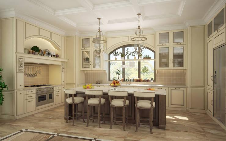 Интерьер особняка в американском стиле: Кухни в . Автор – studio forma