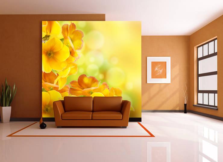 Fototapete Primrose: moderne Wohnzimmer von Trendwände