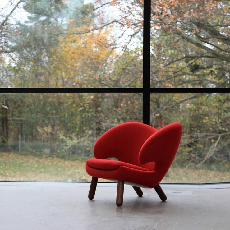Sessel Pelikan, Design Finn Juhl 1941:  Wohnzimmer von Qn'C