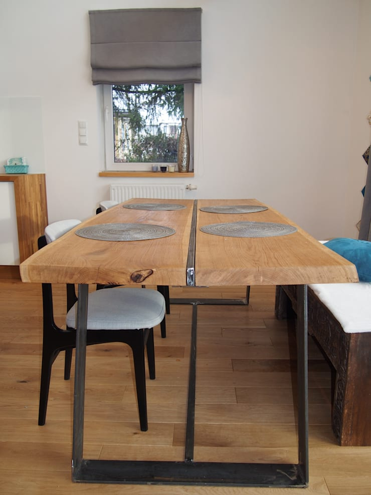 dom 150m2: styl , w kategorii Jadalnia zaprojektowany przez Projekt Kolektyw Sp. z o.o.