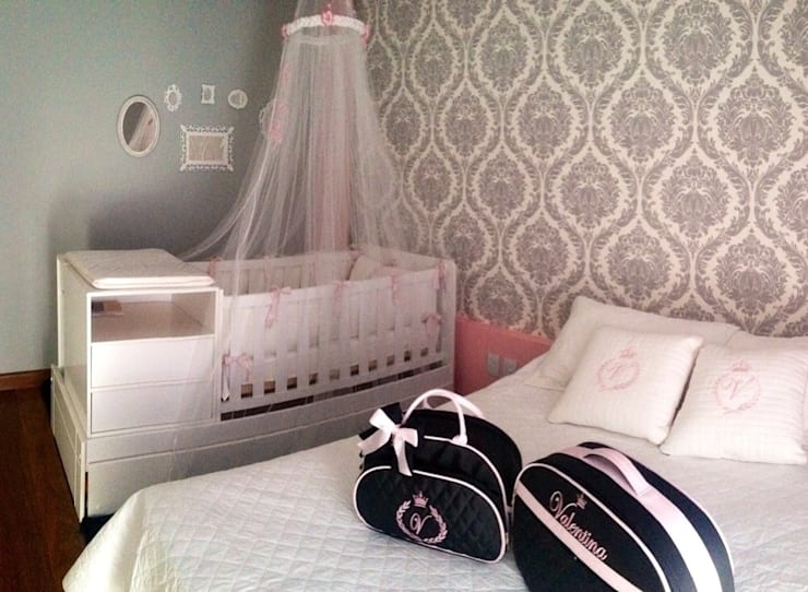 Dormitório Princesa V: Quartos  por Paula Folim - Arquitetura e Interiores