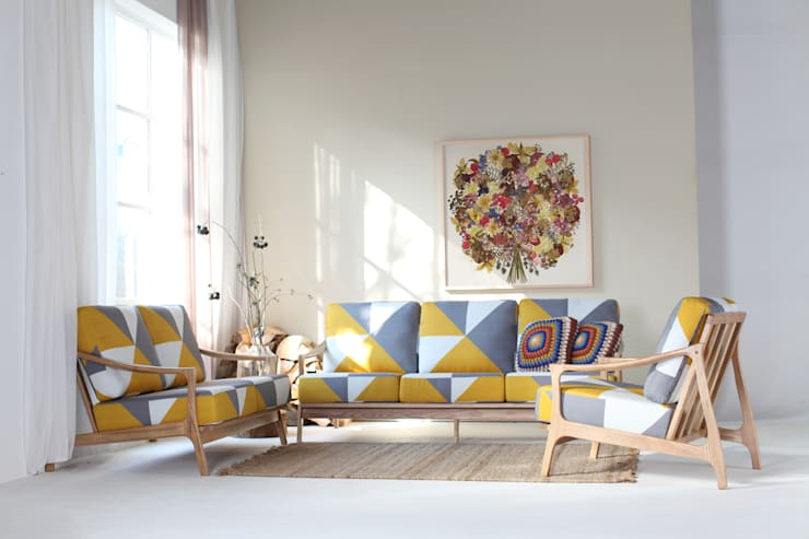 scandinavian Living room تنفيذ STYLE-K