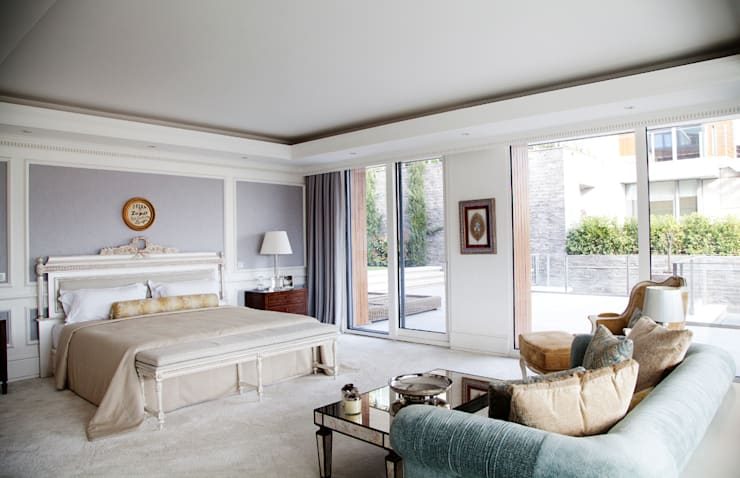 Kerim Çarmıklı İç Mimarlık – Çubukluvadi Evi :  tarz Yatak Odası