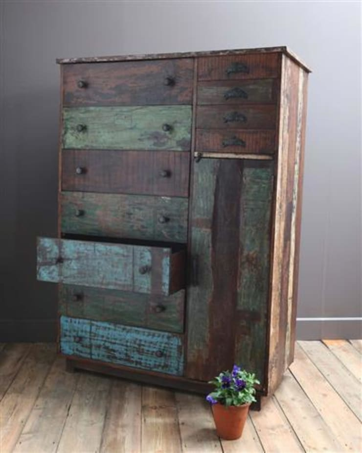 Large Recycled Wooden Chest of Drawers:  Household by Vintage Archive