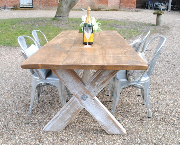 Handmade X frame table:  Kitchen by Dove and Grey