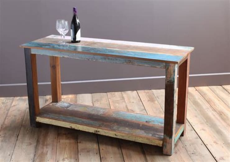 Up-Cycled Wooden Kitchen Island Unit:  Kitchen by Vintage Archive