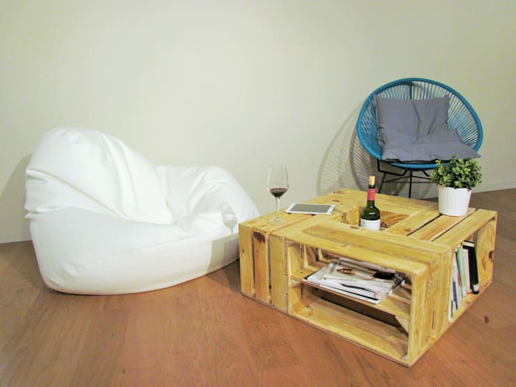 Mesa de centro rústica: Salones de estilo  de Mueblets