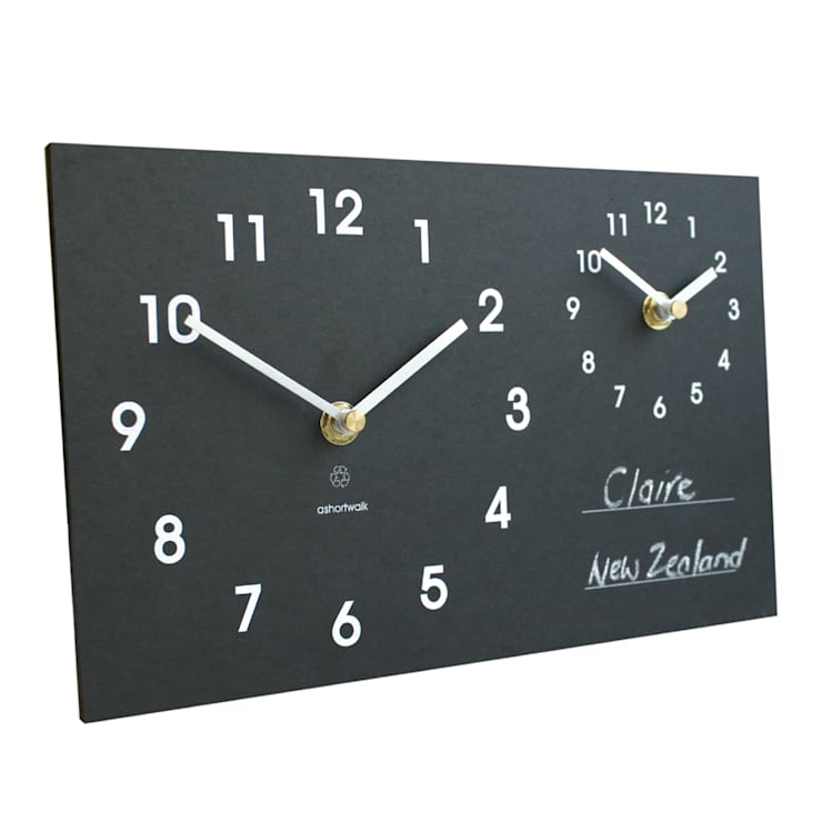 Eco Time Zone Clock:  Living room by ashortwalk