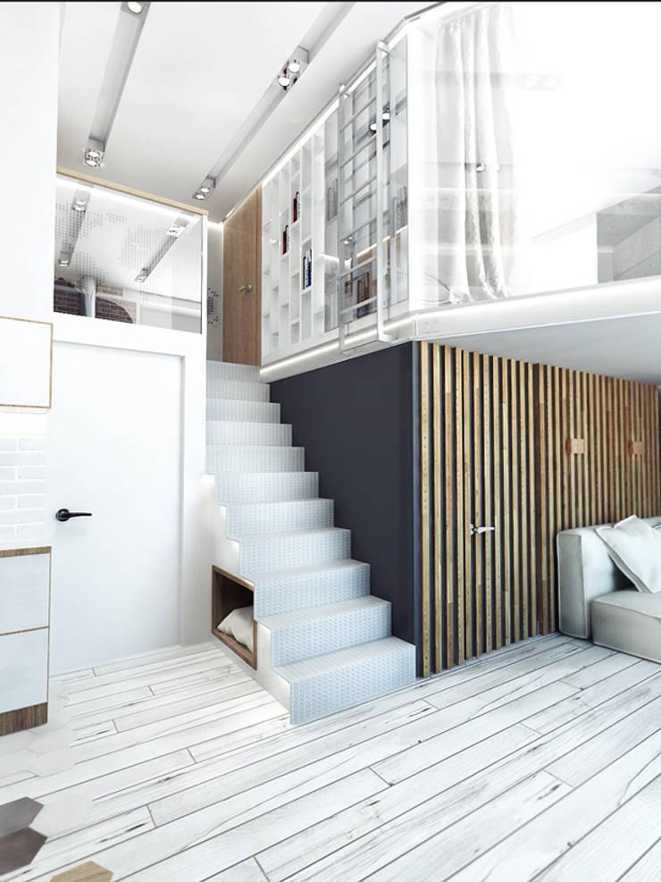 LOFT APARTMENT МОСКВА: Коридор и прихожая в . Автор – IK-architects