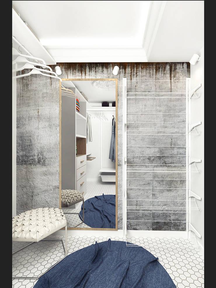 LOFT APARTMENT МОСКВА: Гардеробные в . Автор – IK-architects