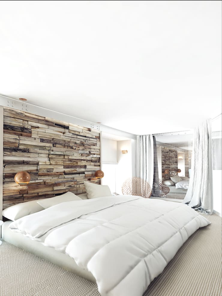 LOFT APARTMENT МОСКВА: Спальни в . Автор – IK-architects