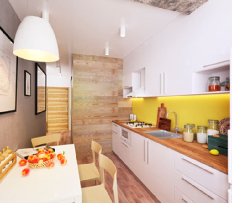 KEFIR HOME: Кухни в . Автор – IK-architects
