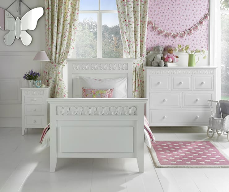 Florence Flutterby Bed:  Nursery/kid's room by Little Lucy Willow
