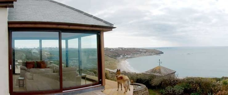 Sunny Corner Lane, Sennen:  Conservatory by Hurditch Architecture