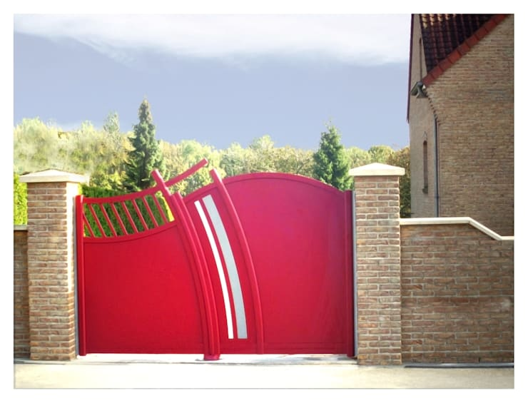 Portails Design Atlantide: Fenêtres & Portes de style  par Art et Portails