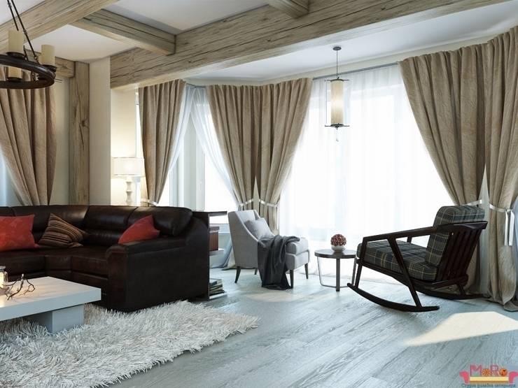Дизайн проект гостиной в загародном доме: Гостиная в . Автор – MoRo