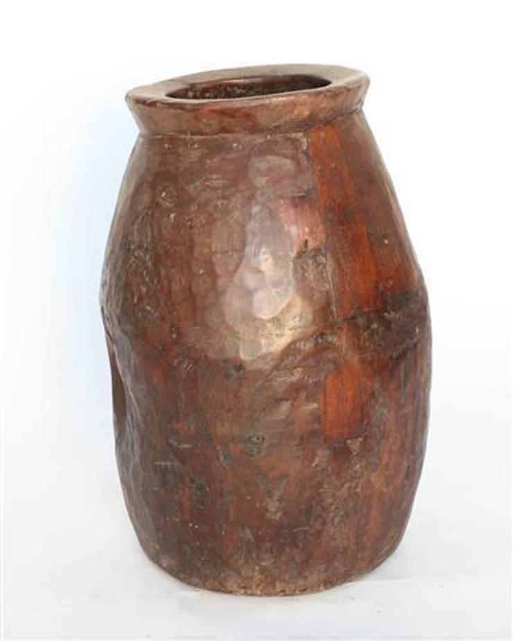 Rustic Wooden Pot:  Garden  by Vintage Archive