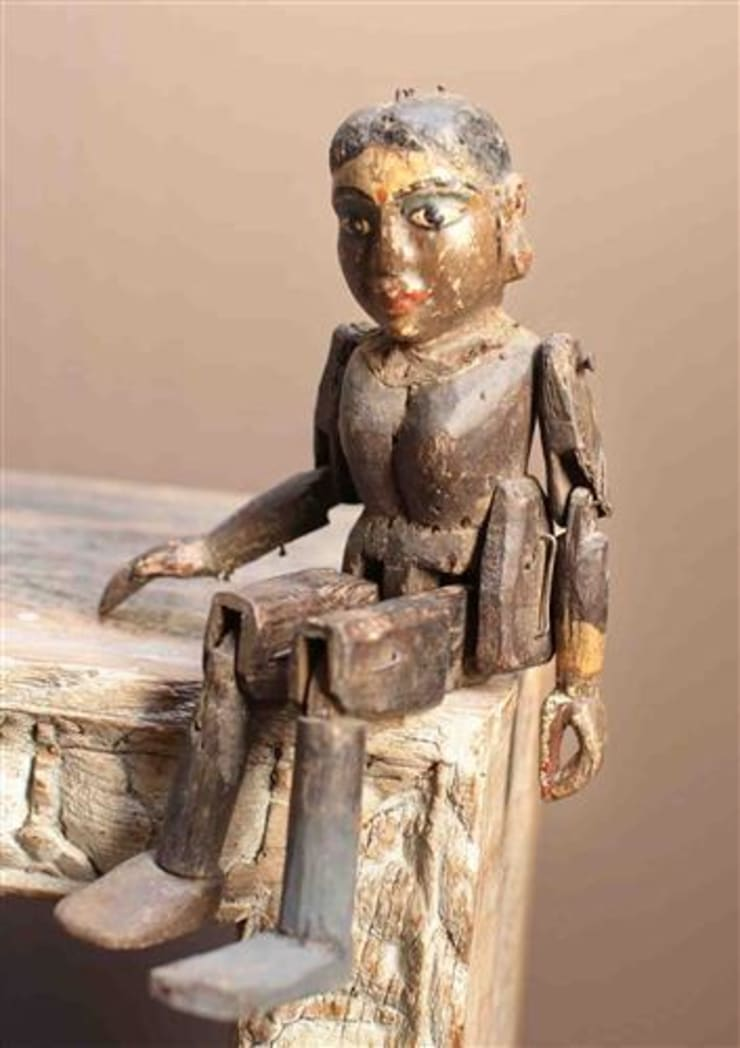 Antique Wooden Puppet :  Artwork by Vintage Archive