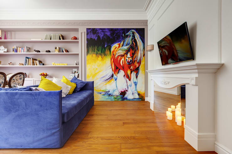 eclectic Living room by U-Style design studio