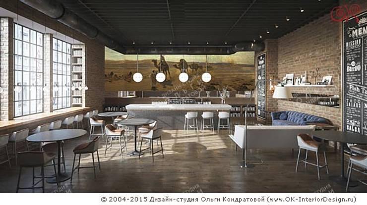 Концепция интерьера сети кофеен в стиле лофт: Гостиная в . Автор – Olga's Studio